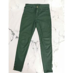 American Apparel High Waisted Green Jeans Size 28